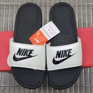 Nike Women''s Benassi JDI Spruce Aura Black Slides